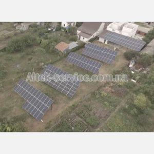 Солнечная станция 50 кВт. Общий вид.