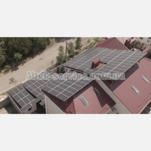 Солнечная станция 50 кВт. Вид со стороны монтажа.