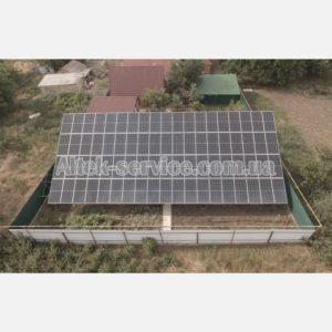 Солнечная станция 30 кВт. Наземная конструкция. Общий вид. Фасад.
