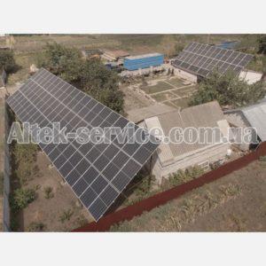 Солнечная станция 36 кВт. Вид с правого угла 1.