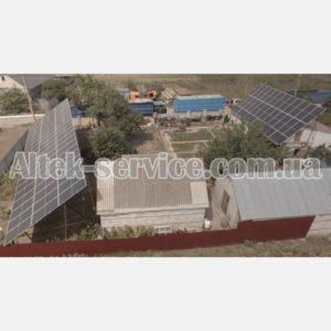 Солнечная станция 36 кВт. Вид с правого угла 2.