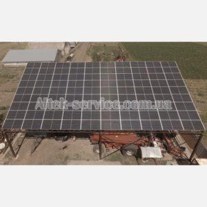 Солнечная станция 36 кВт. Наземная конструкция. Общий вид. Фасад.