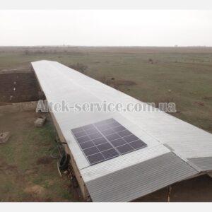 Солнечная станция 6.4 кВт. Ракурс с правой стороны.