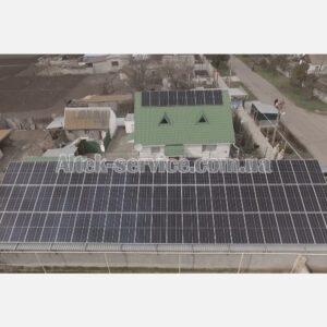 Солнечная станция 39 кВт. Общий вид. Фасад.